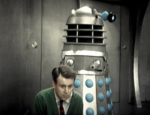 Ian and a Dalek - in colour!