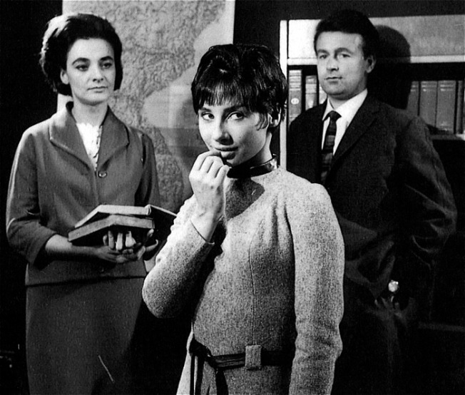 The Doctor's grand-daughter Susan, with her History Teacher, Barbara Wright and Science Teacher, Ian Chesterton in An Unearthly Child