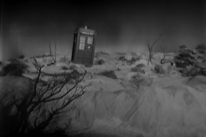 The Tardis materializes for the first time.