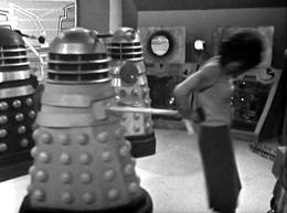 Barbara is caught by a Dalek's sucker
