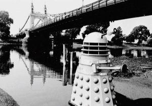 The Dalek shows no ill effects from its time in the polluted Thames