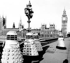 Dalekjs on Westminster Bridge