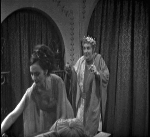 "Nero plays a game of ""slap and tickle"" with a reluctant Barbara"