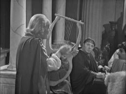 The Doctor and his non-existent lyre playing skills