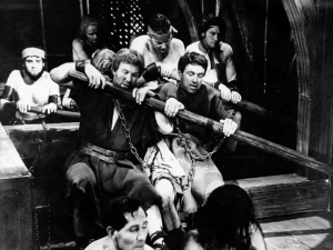 Ian as a galley slave