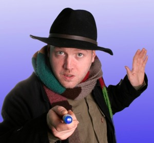 "Toby Hadoke - Stand-up comedian, actor and author of ""Moths Ate My Doctor Who Scarf""."