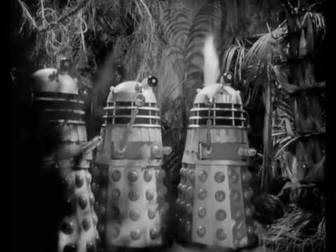 Magnificent flame throwing Daleks in The Daleks' Master Plan