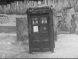 The Doctor's travelling temple - small and convenient.  This is not a shot taken from The Myth Makers. Unfortunately no telesnaps survive.