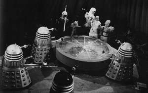 The Daleks and emissaries from the seven outer galaxies at the conference