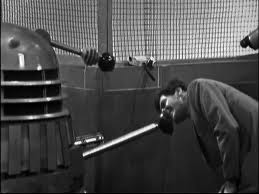 Peter Purves first appeared in Doctor Who as Morton Dill, the dim witted hick from Alabama in The Chase.  Here Dill investigates a Dalek on the Empire State Building