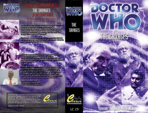Loose Cannon's VHS Cover art for their The Savages reconstructions.  The Savages was originally broadcast in the UK between 28th May and 18th June 1966