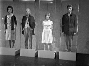 The Tardis Crew as museum exhibits