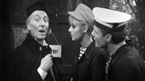 The Doctor is about to have two new companions.  Dodo and Ben meet the Doctor to pass on a message from the departing Dodo