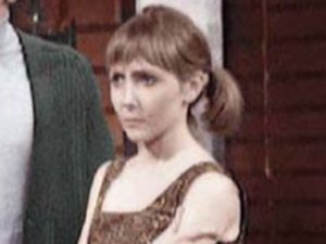 A rare photo of  Maureen O'Brien as Vicki in colour