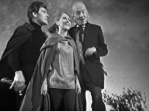 Vicki, Steven and the Doctor in The Time Meddler