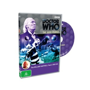 An example of a Region 4 Doctor Who disc.  Note that it doesn't have any photographs or otherwise interesting artwork