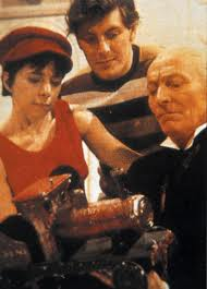 Steven, Dodo and the Doctor in The Celestial Toymaker