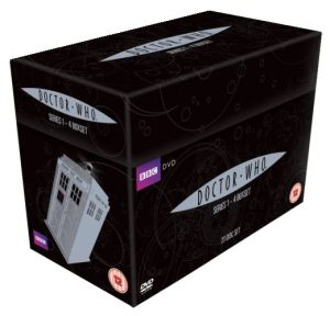 The most inexpensive (and shelf efficient) way of buying Series 1 through to 4 of Doctor Who (2005-2008) is by the Complete Box Set. Purchased from the UK this Box Set costs around $70.00
