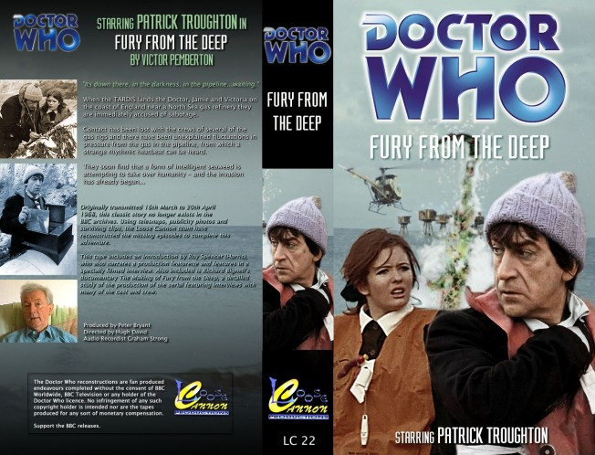 Fury from the Deep was originally broadcast in the UK between 16 March and 20 April 1968.  It is the last Doctor Who serial with all its episodes missing from the BBC Archives.