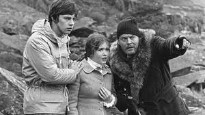 "Jamie, Victoria and the ""mad anthropologist"", Travers. Jack Watling, the father of Deborah Watling, played Travis"
