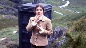 Victoria emerges from the TARDIS and is shocked by what she sees