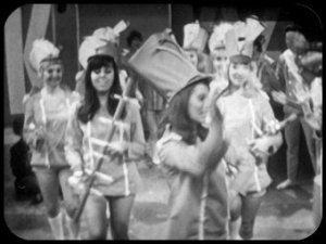 The Colony is run along the lines of a Holiday Camp.  Here Drum Majorettes perform