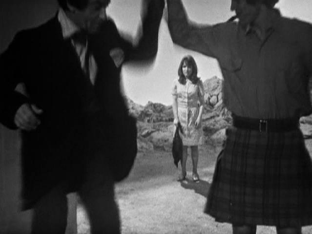 Victoria's dress was shorter than Jamie's kilt in The Tomb of the Cybermen
