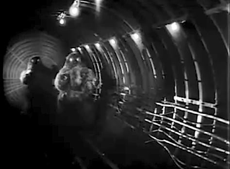 Yeti in the tunnels of the London Underground in the lost Troughton era serial The Web of Fear