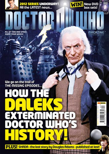 A Doctor Who Magazine front cover on Missing Episodes
