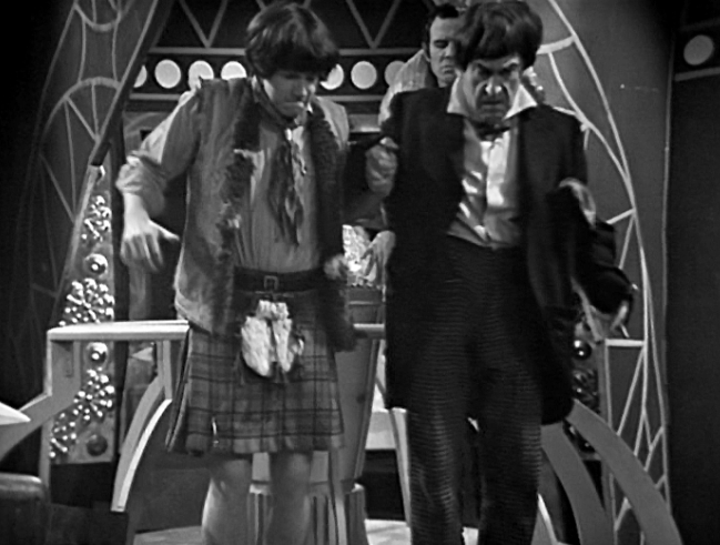 The Doctor and Jamie hold hands again in The Dominators