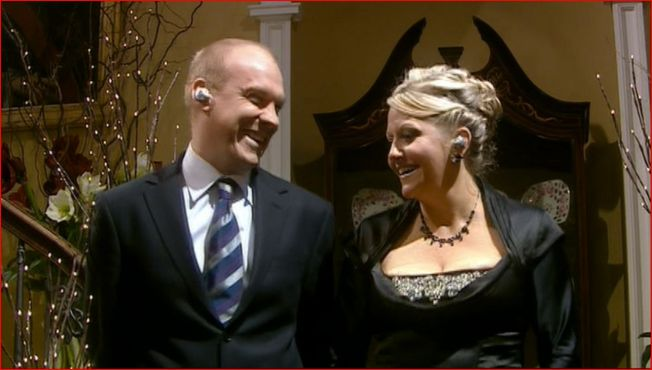 In the 2006 episodes, Rise of the Cybermen and The Age of Steel, the Cybermen controlled humans through Ear Pods.  Pictured here are Rose Tyler's parents, Jackie and Pete