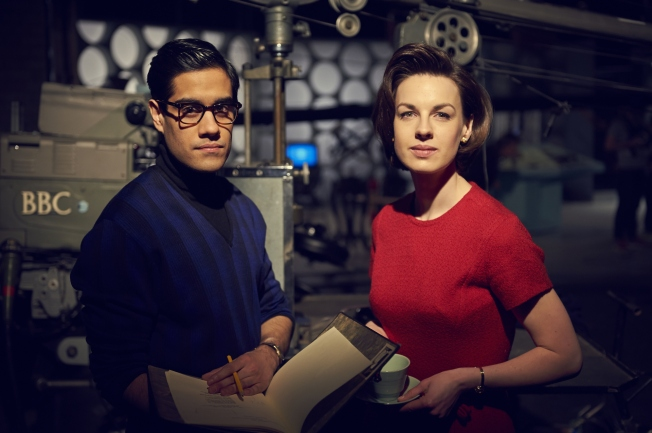 Sacha Dhawan as Waris Hussein, the Director of An Unearthly Child and Jessica Raine as Verity Lambert, Doctor Who's first Producer