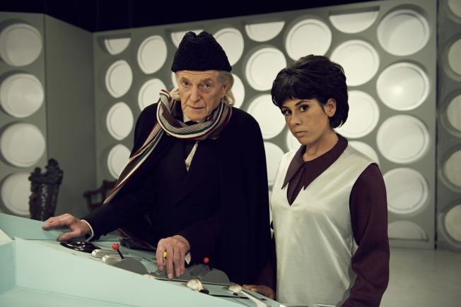 David Bradley with Claudia Grant as Carole Ann Ford (Susan Foreman)