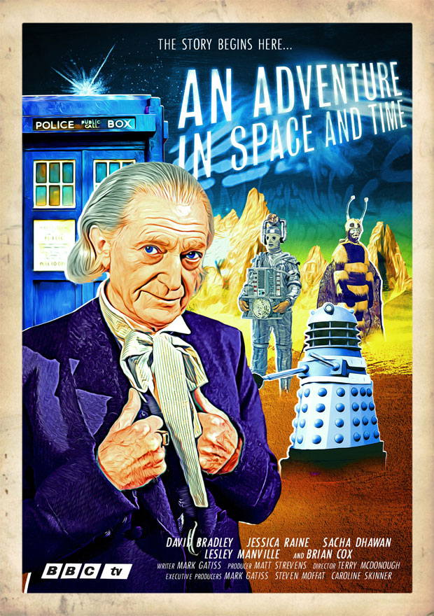 An Adventure in Space and Time Retro Poster Zarbi
