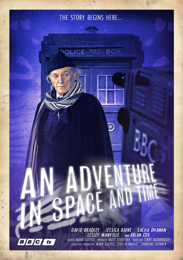 An Adventure in Time and Space Retro Poster First Doctor