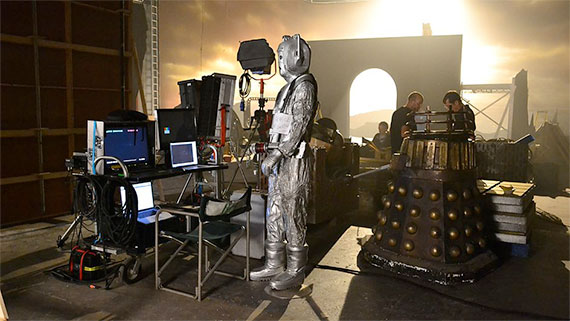 A Cyberman and Daleks