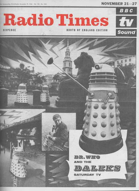 The Daleks appeared in their second Doctor Who serial in November 1964.  The Dalek Invasion of Earth featured in this cover