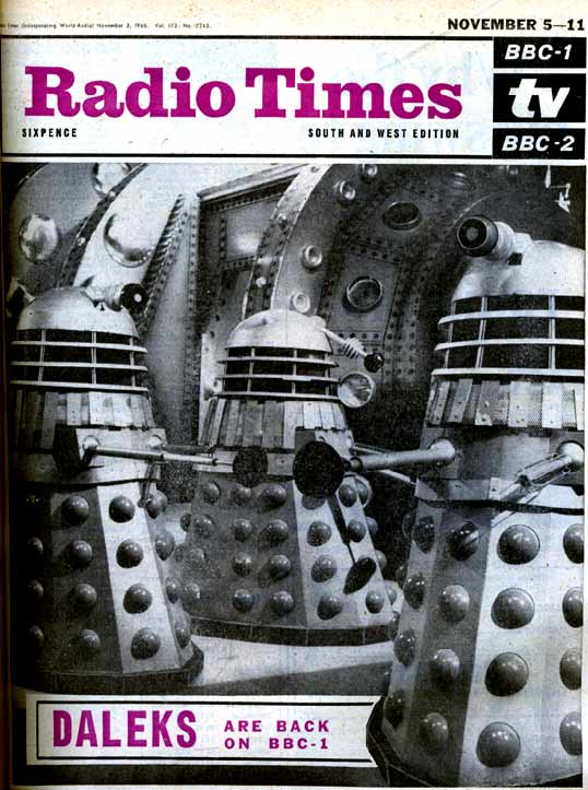 The return of the Daleks were worth a Radio Times Cover story