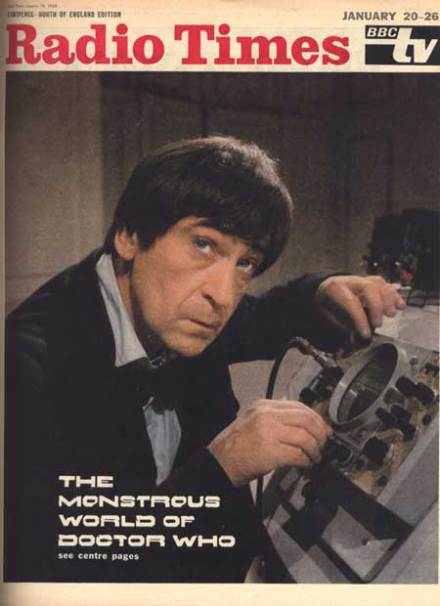 A rare colour cover for 1960s Radio Times saw Patrick Troughton as the Second Doctor in