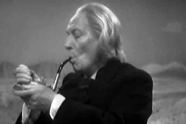 For the first and only time  the Doctor is seen to smoke in An Unearthly Child.  Patrick Troughton was seen smoking a cigar in The Enemy of the World but was playing the Doctor's evil double, Salamadar, at the time.