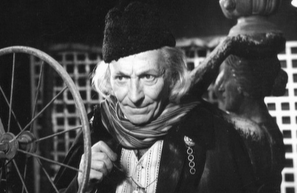 The First Doctor first appeared in eccentric garb with a cape, long scarf and fez type hat