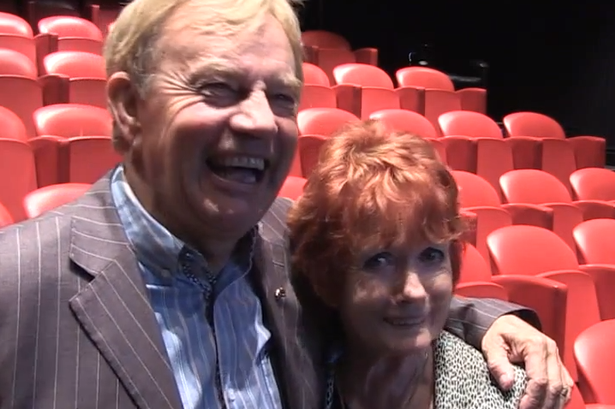Frazer Hines and Deborah Watling at the private screening and press conference for The Web of Fear and The Enemy of the World yesterday