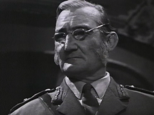The War Lord Smythe wearing his magical spectacles in The War Games