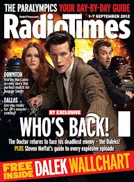 A September 2012 Radio Times cover for the premier Series 7 episode, The Asylum of the Daleks