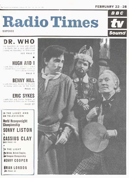 A 1965 Radio Times cover featuring the Doctor Who serial The Crusades