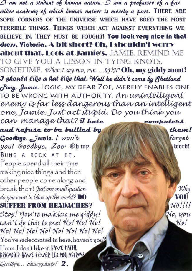 Second Doctor Quotes.  Image courtesy of http://aredell.deviantart.com/art/Second-Doctor-Quotes-200519446