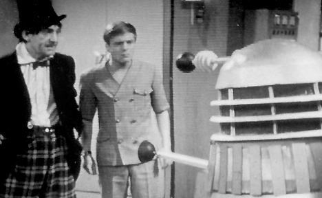 The Doctor, Ben and a Dalek in The Power of the Daleks