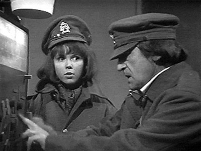 The Doctor and Zoe wear Army caps in The War Games