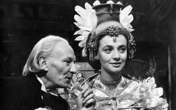 The Doctor with Barbara, who is masquerading as the reincarnated priest, Yetaxa in The Aztecs