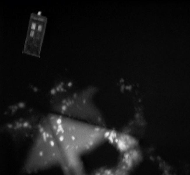 In a very trippy Sixties manner the TARDIS travels through time and space, pursued by the Daleks